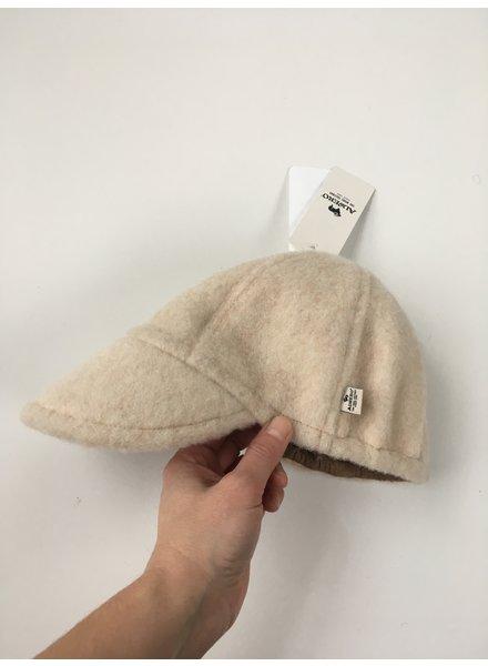 Alwero wool cap FELTED adult - 100% teddy wool - beige