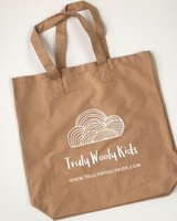 Truly Wooly Kids Truly Wooly Kids - XXL canvas shopper - 100% cotton - tan