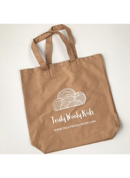 Truly Wooly Kids Truly Wooly Kids - XXL canvas shopper - 100% katoen - tan