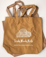 Truly Wooly Kids Truly Wooly Kids - XXL canvas shopper - 100% cotton - ochre