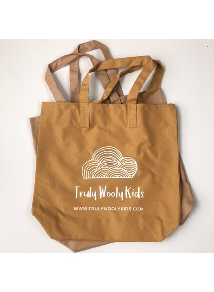 Truly Wooly Kids Truly Wooly Kids - XXL canvas shopper - 100% katoen - oker