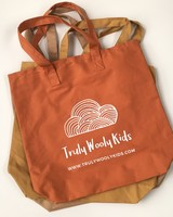 Truly Wooly Kids Truly Wooly Kids - XXL canvas shopper - 100% cotton - brick