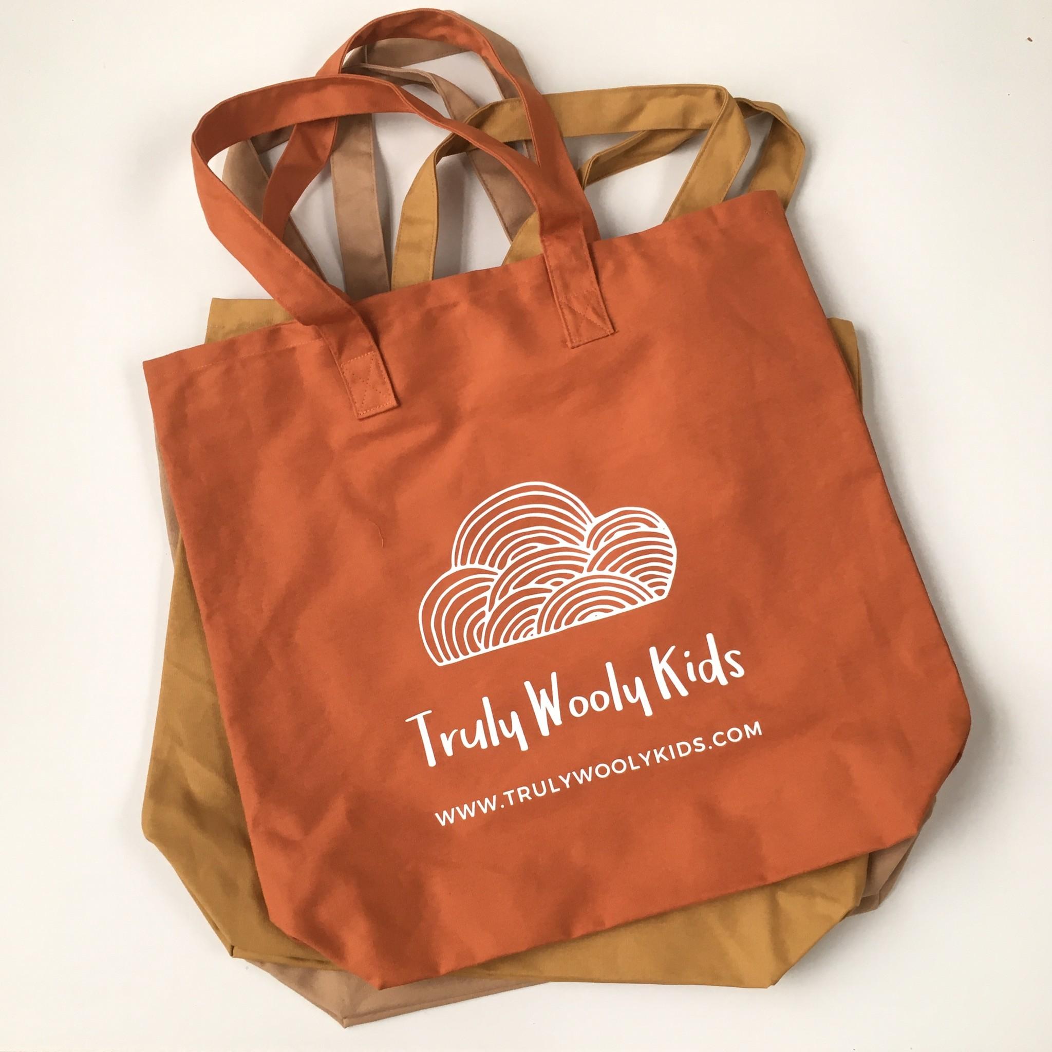 Truly Wooly Kids Truly Wooly Kids - XXL canvas shopper - 100% katoen - brick