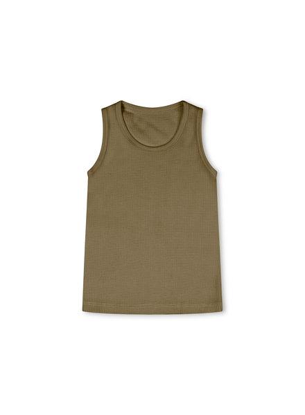Matona basic hemd  - 100% biologisch wafel katoen/plantaardig geverfd -  olijf - 2 tm 6 jaar