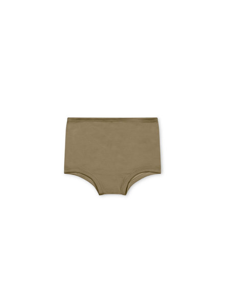 Matona basic undies - 100% organic waffle cotton/naturally dyed –olive - 2 to 6 years