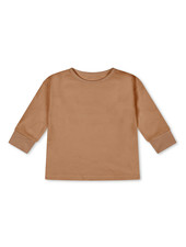 Matona basic longsleeve - 100% organic waffle cotton/naturally dyed – terracotta -2 to 6 years
