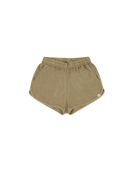 Matona women shorts BLOEM - 100% linen - clay green - S to L