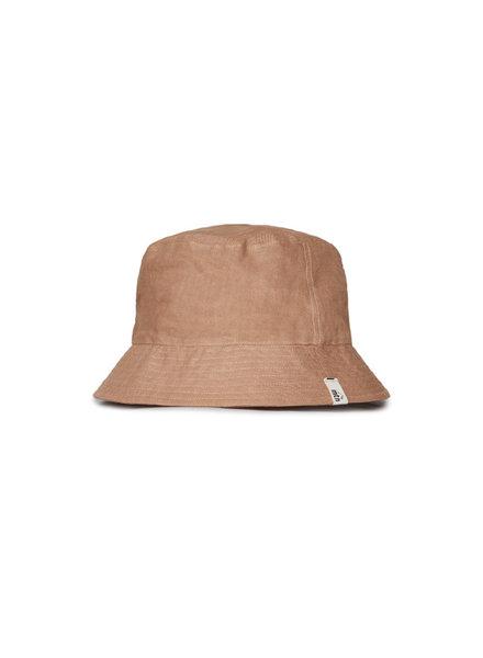 Matona zonnehoed/bucket hat - 100% linnen - tan - baby en kind