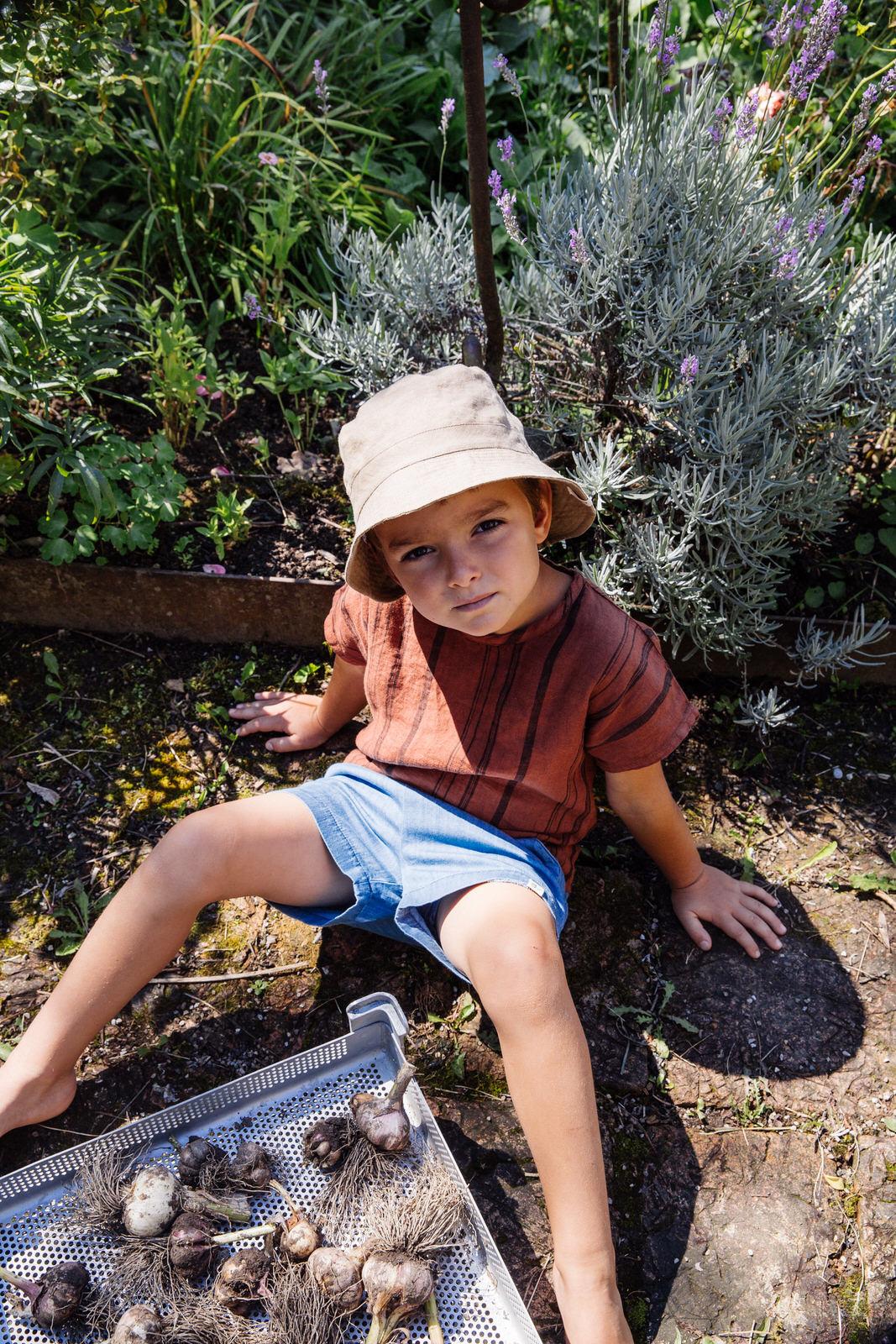 Matona Matona sun hat/bucket hat- 100% linen - tan - baby and child