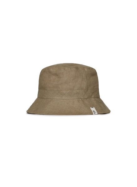 Matona sun hat/ bucket hat - 100% linen - clay green - baby and child