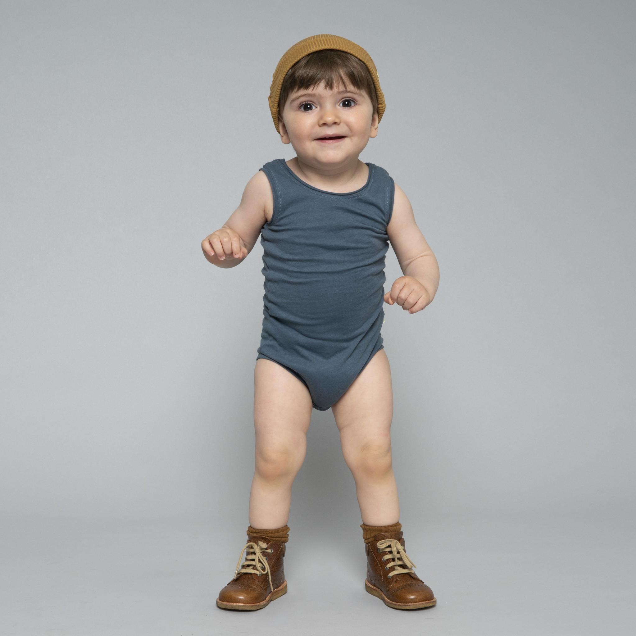 Minimalisma NAPOLI tanktop baby body  - 100% organic cotton - deep ocean blue - 1m to 3 Y
