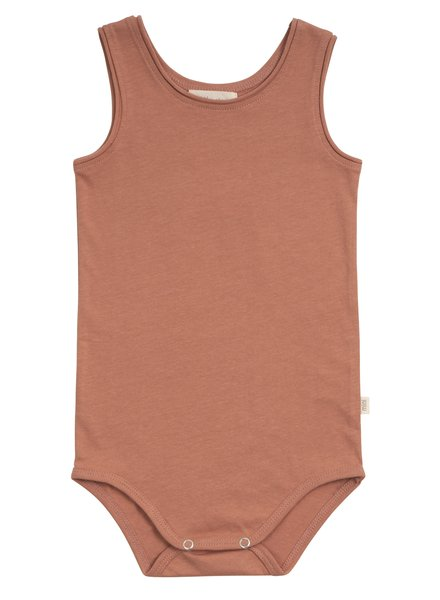 Minimalisma Napoli tanktop baby body - 100% organic cotton - tan - 1m to 3 years
