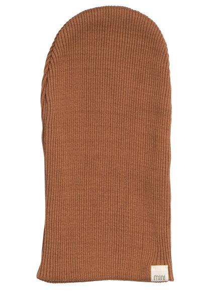 Minimalisma beanie/hat silk  Bambi- fine rib - 70% silk - rooibos - newborn to 12 Y