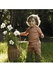 Minimalisma  long-sleeve baby shirt silk BELFAST - fine rib - 70% silk - tan -  0 to 24 months