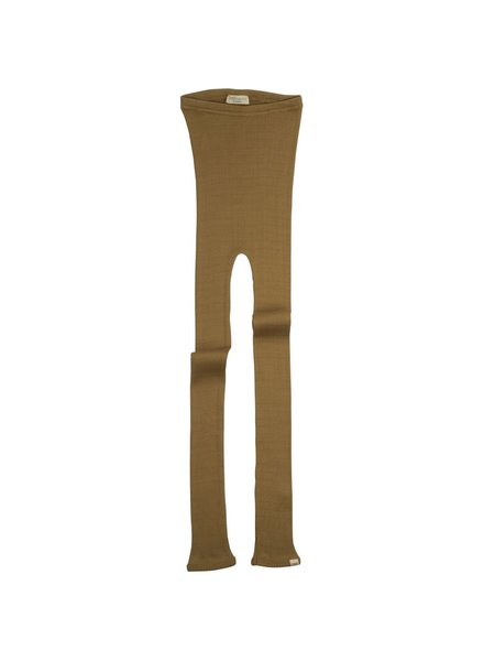 Minimalisma BIEBER silk leggings  - fine rib - 70% silk - golden leaf - 1m to 14 years