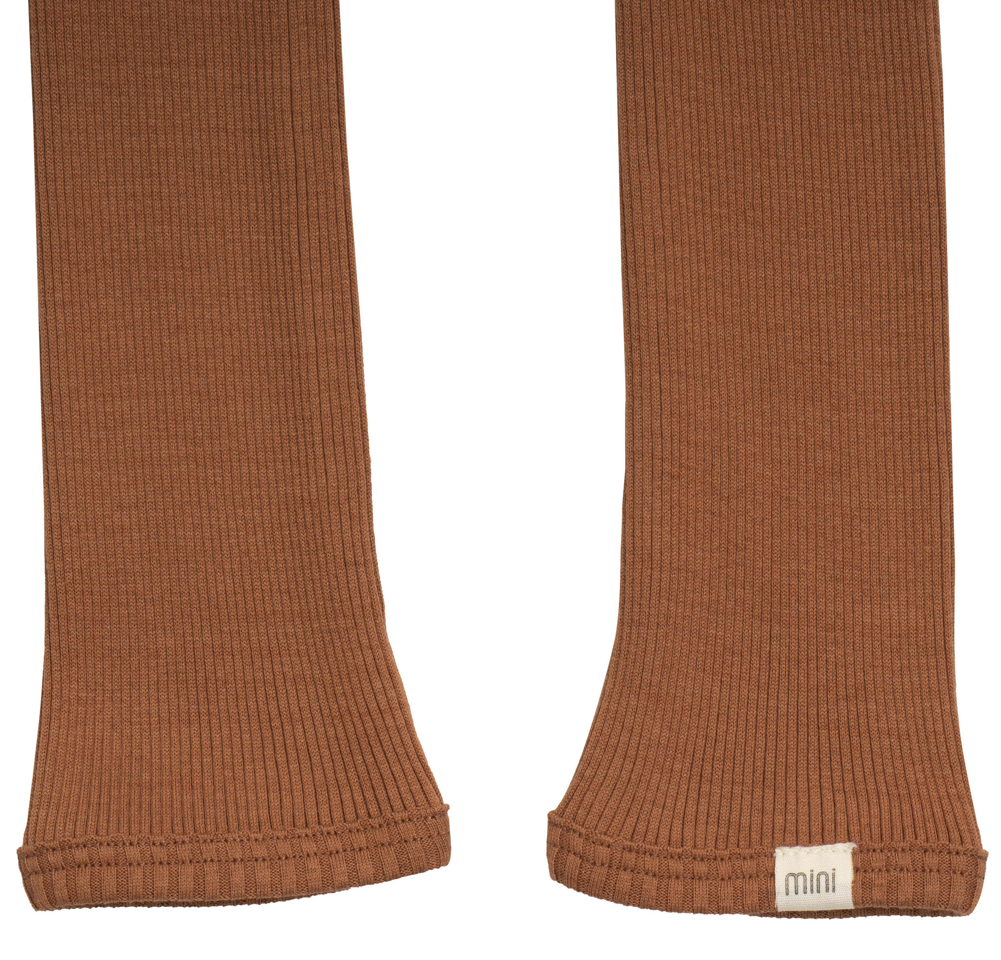 Minimalisma BIEBER silk leggings  - fine rib - 70% silk - rooibos - 1m to 14 years