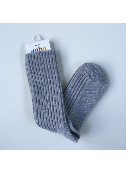 JOHA thick woolen socks - 90% merino - light grey melange  - baby to 46