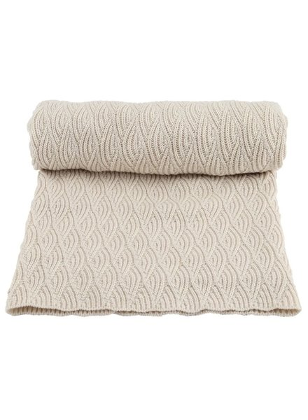 Konges Slojd baby- and children's blanket POINTELLE- 100% organic cotton - off white - one size / 100 x 70 cm
