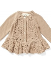 Konges Slojd frilly cardigan CABBY - 100% organic cotton - nougat - 6m to 8 yrs