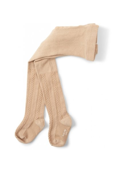 Konges Slojd cotton tights - pointelle/ajour - dusty rose - 56 to 134 cm