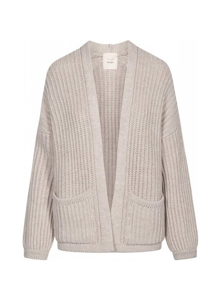 GAI + LISVA knitted women cardigan NOVEMBER - 100% merino wool - nougat melange  - S to L