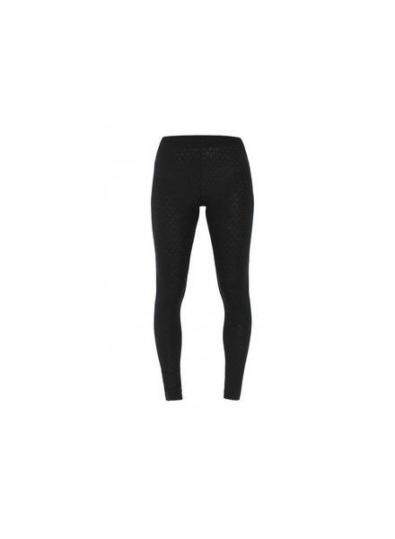 JALFE wollen legging eyelet / ajour  - 100%  merino wol - gemeleerd antraciet - S tm L