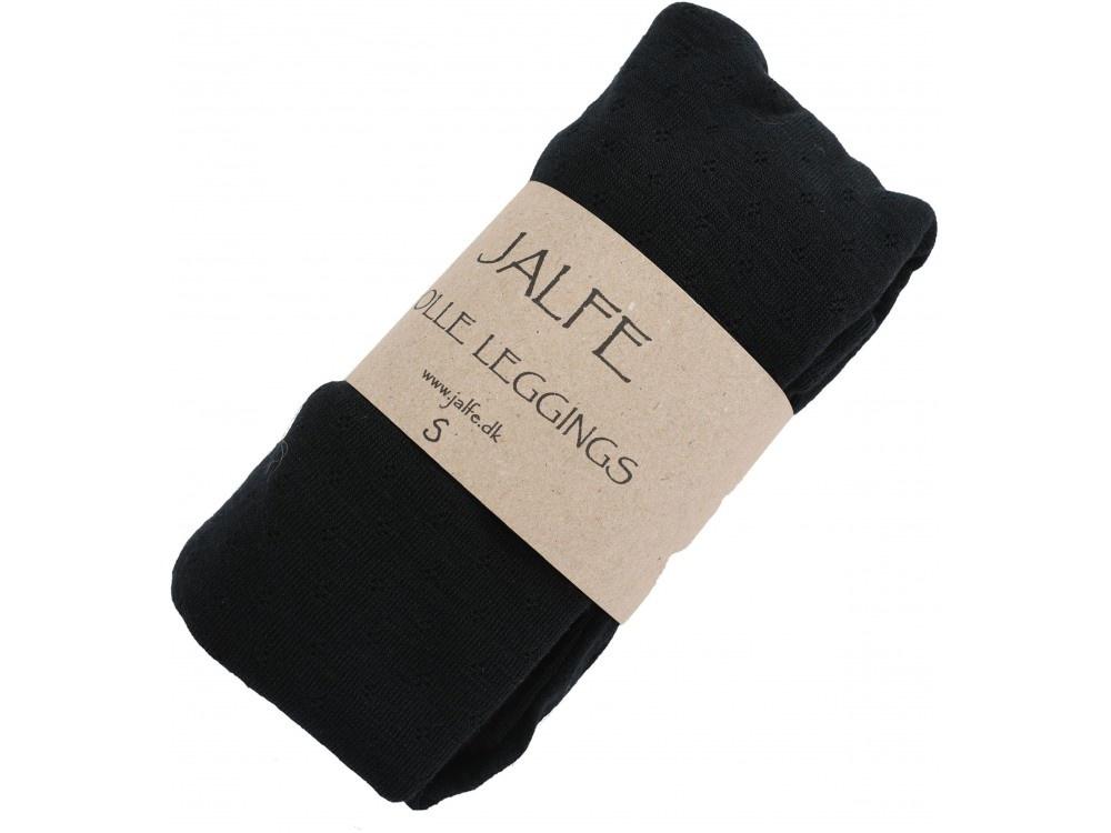 JALFE wool leggings eyelet / ajour -  100%  merino wool  - anthracite melange - S to L