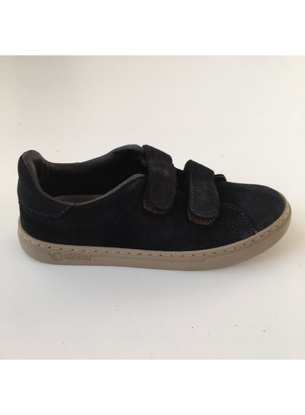 NATURAL WORLD suede eco kids sneakers TEO  - 100% natural rubber sole - night blue - 25 to 38
