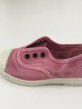 NATURAL WORLD eco kids sneakers OLD LAVANDA -  organic cotton -  stone washed pink - 21 to 34