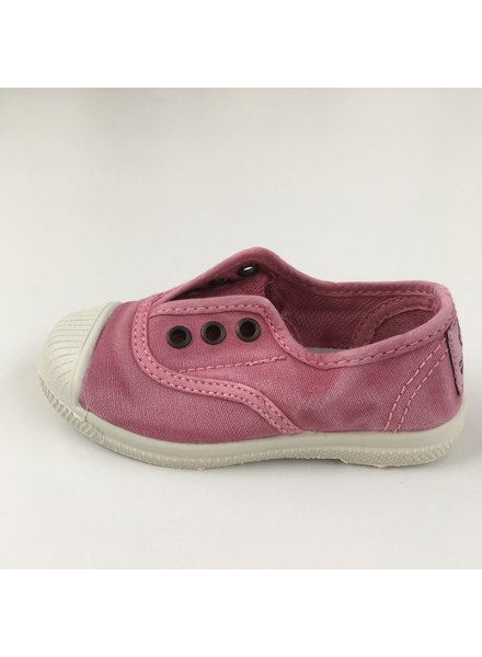 NATURAL WORLD eco kinder sneakers OLD LAVANDA - biologisch katoen - stone washed roze - 21 tm 34