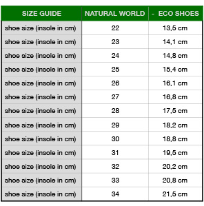 NATURAL WORLD eco kids sneakers OLD LAVANDA - organic cotton - stone washed anthracite - 21 to 34