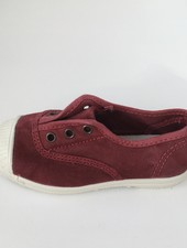 NATURAL WORLD eco kinder sneakers OLD LAVANDA - biologisch katoen - stone washed bordeaux - 21 tm 34