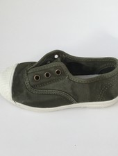 NATURAL WORLD eco kinder sneakers OLD LAVANDA - biologisch katoen - stone washed khaki - 21 tm 34