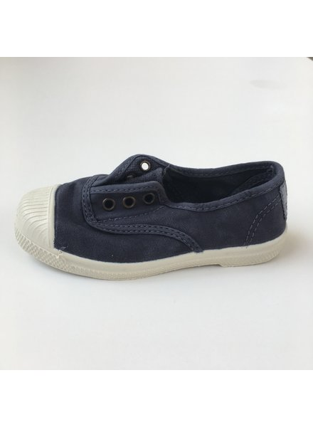 NATURAL WORLD eco kids sneakers OLD LAVANDA - organic cotton - stone washed denim - 21 to 34
