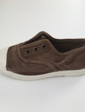 NATURAL WORLD eco kinder sneakers OLD LAVANDA - biologisch katoen - stone washed  bruin - 21 tm 34
