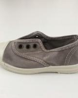 NATURAL WORLD eco kinder sneakers OLD LAVANDA - biologisch katoen - stone washed licht grijs - 21 tm 34
