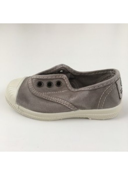 NATURAL WORLD eco kinder sneakers OLD LAVANDA - organic cotton - stone washed light grey - 21 tm 34