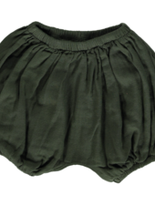 Poudre Organic bloomers VERVEINE - 100% organic gauze cotton - forest green - 1m to 24m