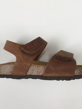 PLAKTON SANDALS leather cork sandal child PARTER - roughened leather mat - nature brown - 24 to 35