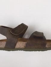 PLAKTON SANDALS leren kurk sandaal kind PARTER - opgeruwd leer mat - natuur groen - 24 tm 35