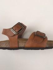 PLAKTON SANDALS leren kurk sandaal kind LOUIS - gladleer cognac bruin  - 24 tm 34
