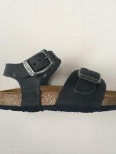 PLAKTON SANDALS leren kurk sandaal kind LOUIS - opgeruwd leer mat - donkerblauw - 24 tm 35