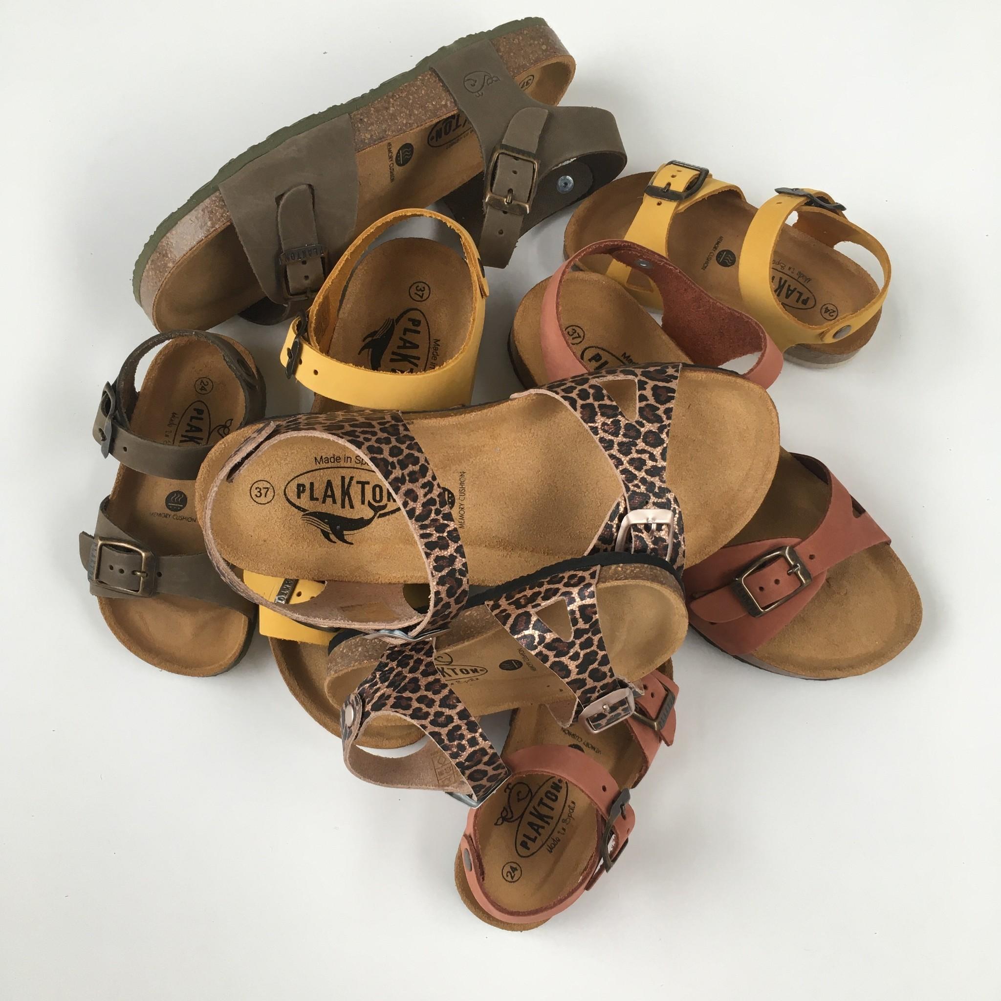 PLAKTON SANDALS leather cork sandal LISA teens & ladies - metallic panther pink - 35 to 40