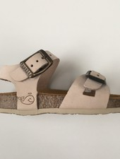 PLAKTON SANDALS leather cork sandal child LISA - nubuck leather - light pink - 24 to 35