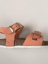 PLAKTON SANDALS leather cork sandal child LISA - nubuck leather - coral - 24 to 35