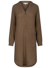 GAI + LISVA women's shirt dress FRYD - 100%  cotton - brown - 36 to 42