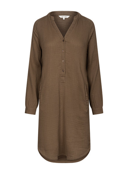 GAI + LISVA women's shirt dress FRYD - 100%  cotton - brown - 36 to 42