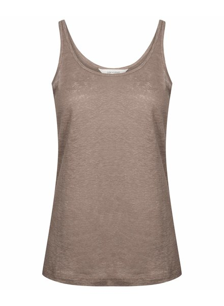 GAI + LISVA women's top  SYNNE - 100% linen - brown  - S to XL