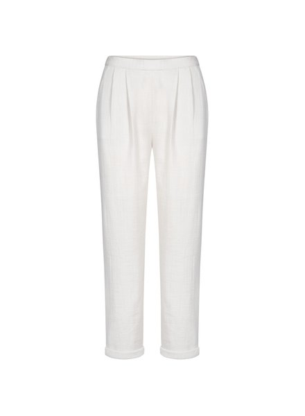 GAI + LISVA women's pants SERENA - 100% crepe cotton - off white - 36 to 42