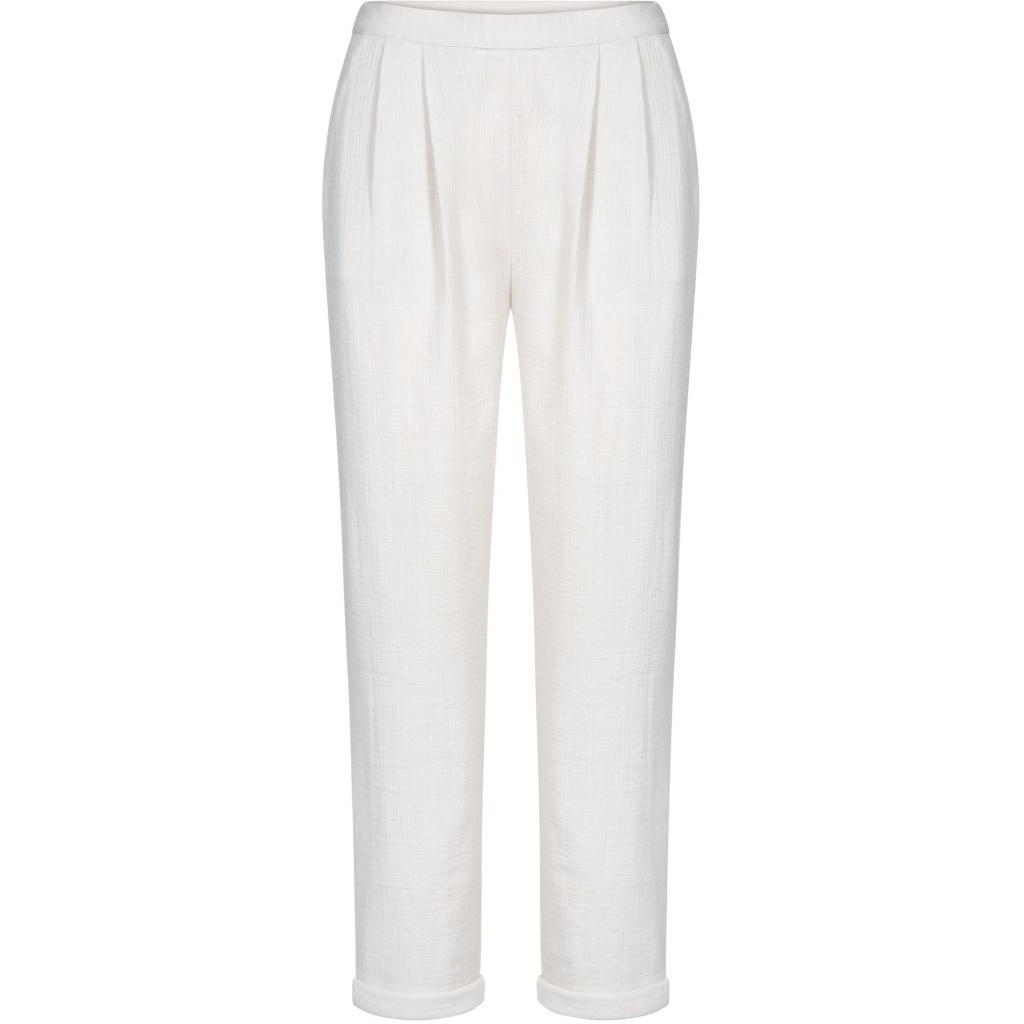 GAI + LISVA women's pants SERENA - 100% crepe cotton - off white - 36 to 42
